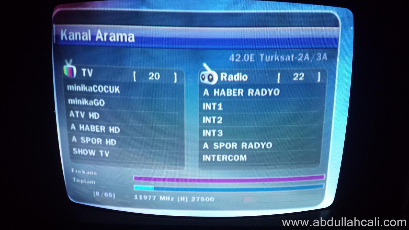 uydu6  Uydu Kanalları Geri Getirme, Uydu Kanalları Düzeltme ve Güncelleme Türksat 4A uydu6